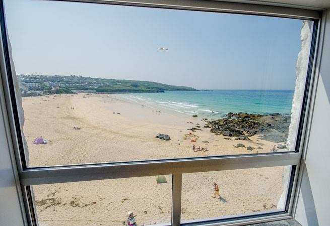 View over Portmeor from Sitting Room.