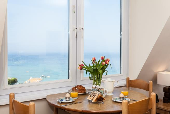 Dining area with incredible views.