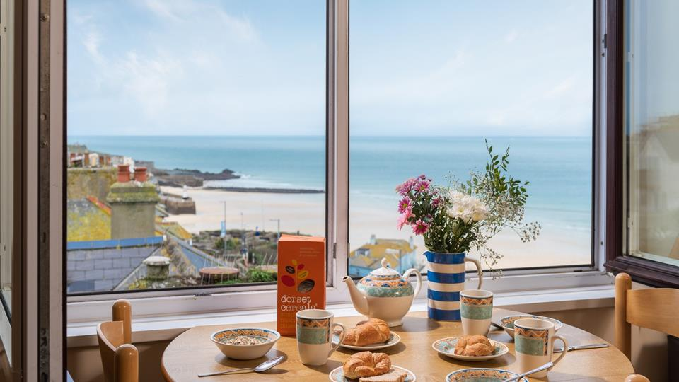 Enjoy breakfast with this beautiful view.