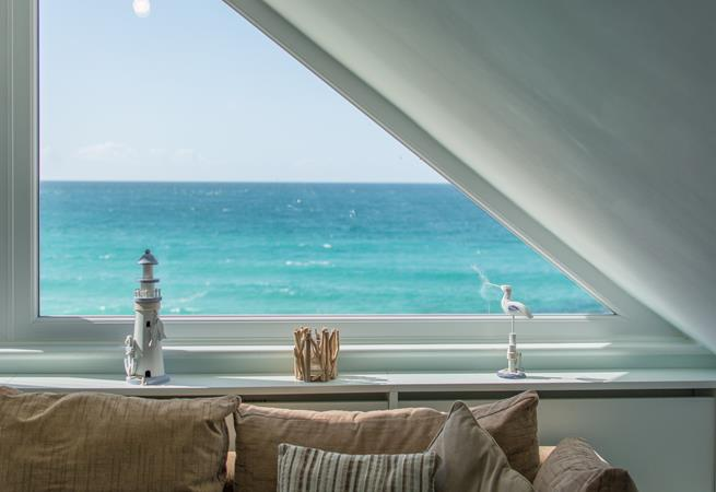 Sea views from the sitting room.