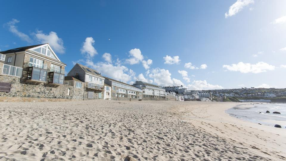 Seawall Court ideally situated on Porthmeor beach.