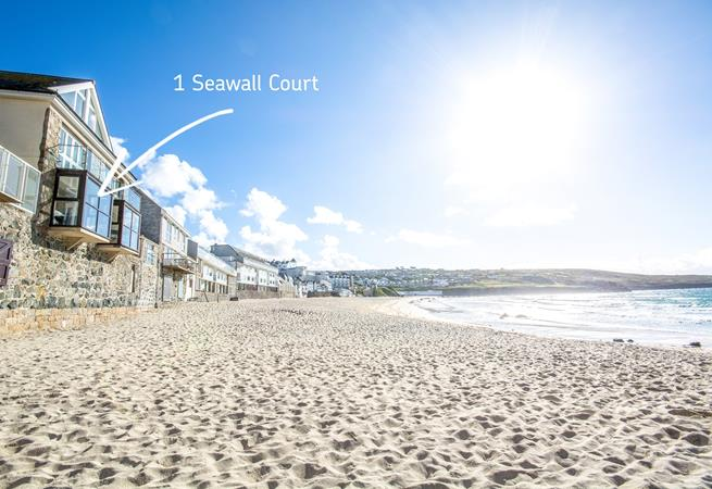 1 Seawall Court just feet above the golden sands of Porthmeor beach
