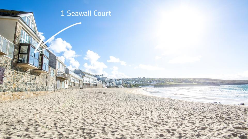 1 Seawall Court just feet above the golden sands of Porthmeor beach