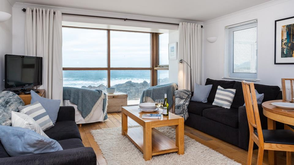 Sitting area with TV/DVD with amazing views over Porthmeor and The Island