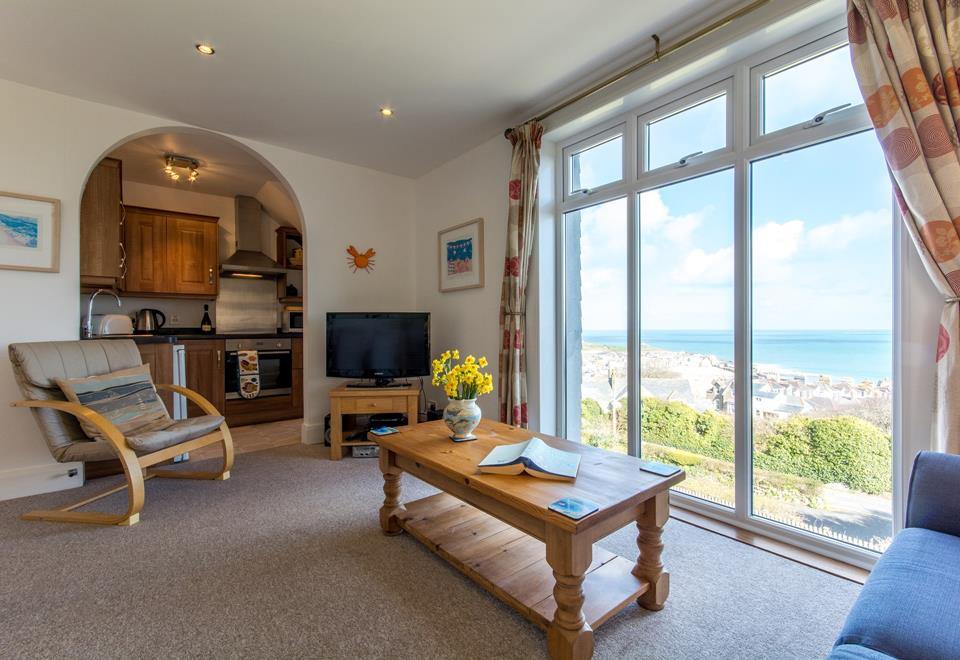 Incredible sea and harbour views from the sitting room.