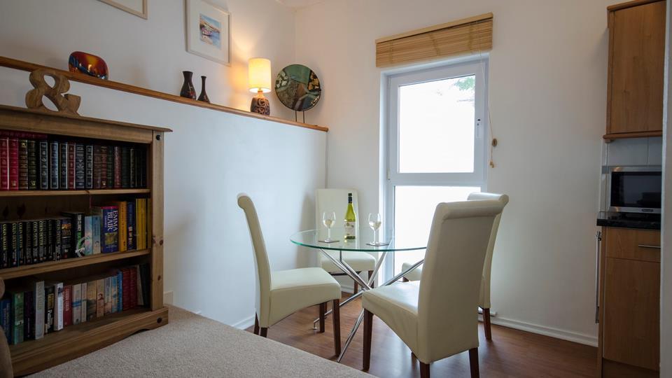 Open plan dining room.