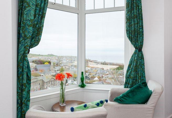 Some fabulous views can be enjoyed from the sitting room.