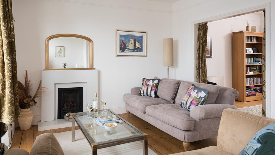 Sink into the comfortable sofas after a day wandering around st Ives.