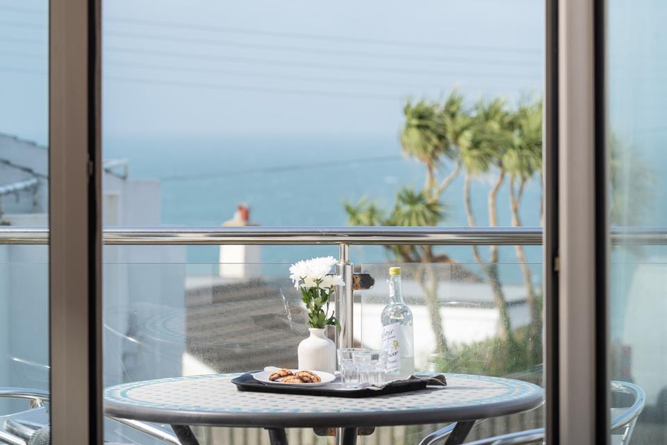 Sea views from the patio balcony.