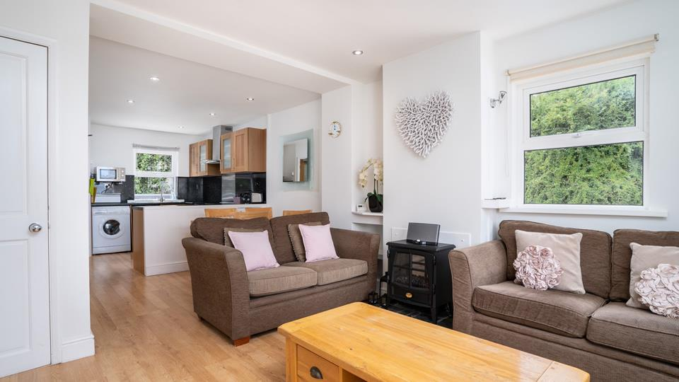 After a day exploring St Ives, snuggle down in the living area with your favourite drink.