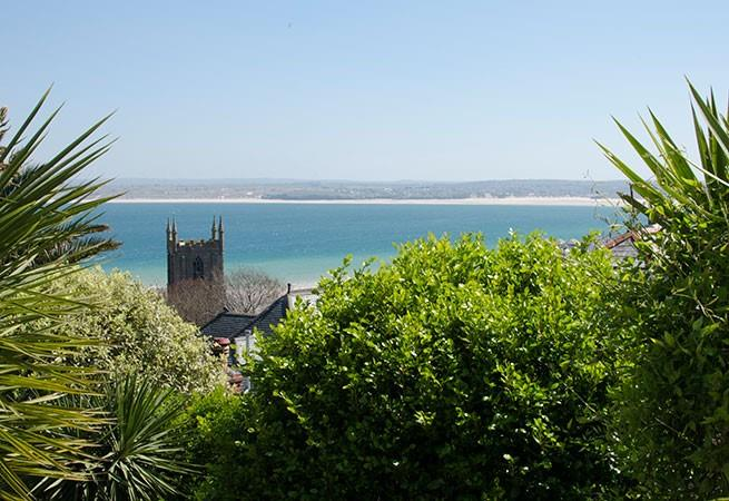 Amazing views from sun terrace across to Godrevy
