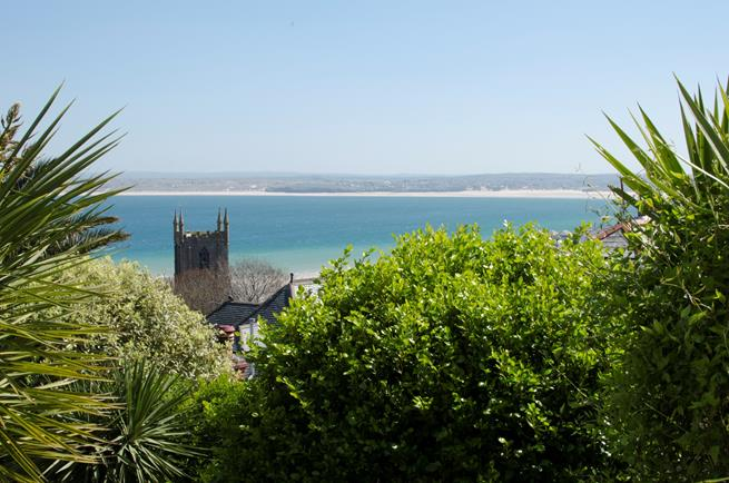 Amazing views from sun terrace across to Godrevy.