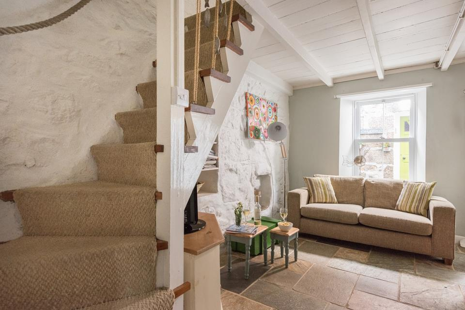 Stairs from the sitting / dining room lead to the 1st floor where the bedrooms are located.