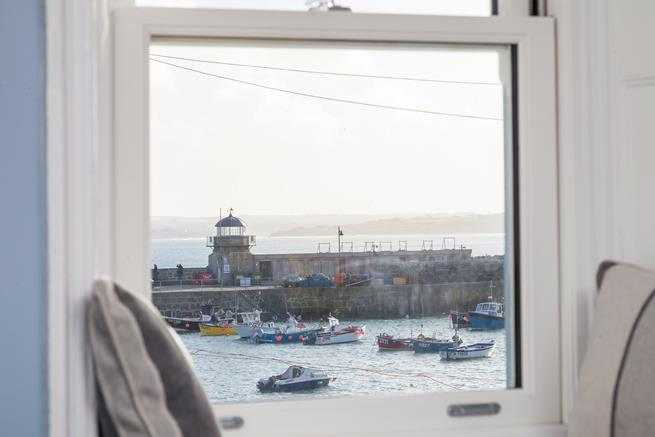 View from the window seat looking over the harbour