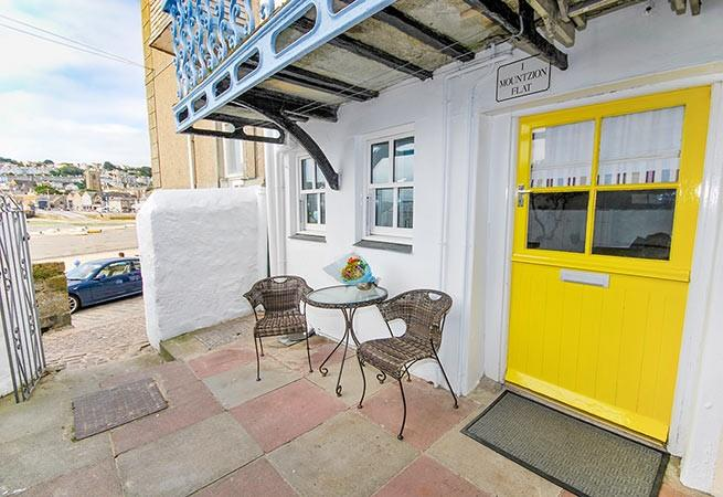 Within just a few paces from the front door you could be stood on the harbour beach.