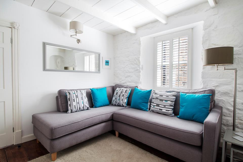 Large comfortable sofa to cosy up on after a long day of exploring