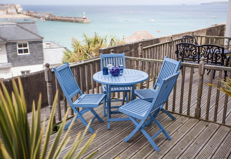 Enjoy the views of St Ives from the large decked terrace.