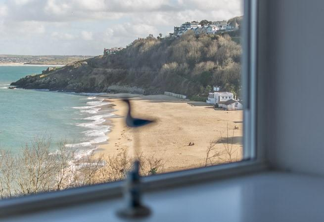 View of Porthminster Beach from the sitting room