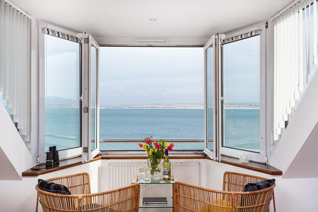A great place to read a book or just gaze out across the bay.
