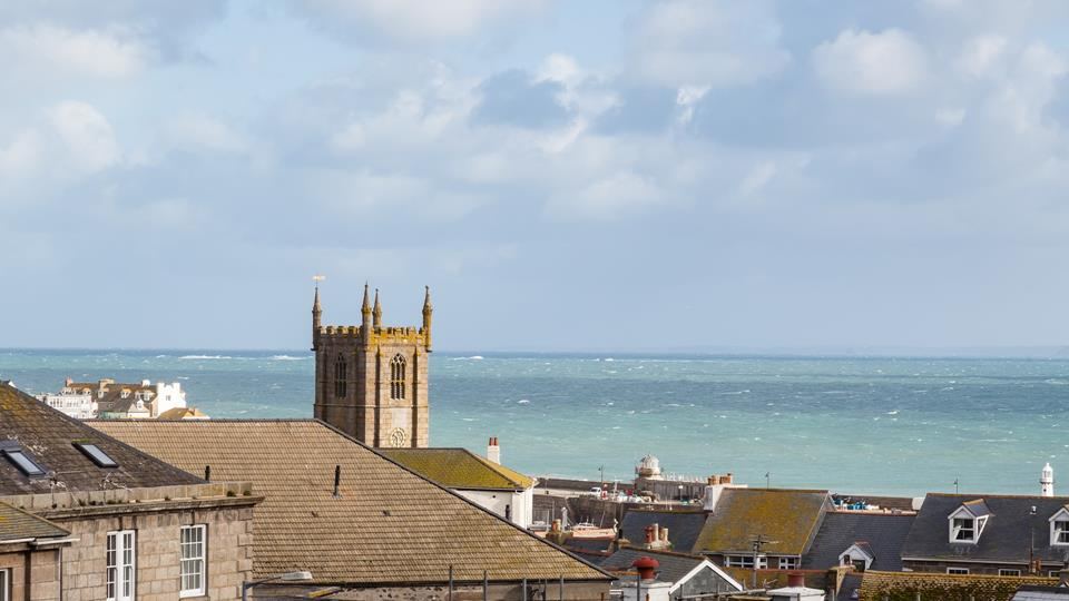 Views over St Ives Bay.