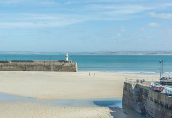 View St Ives famous harbour from the comfort of the apartment.
