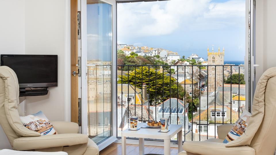 Spectacular harbour views from the open plan living area.