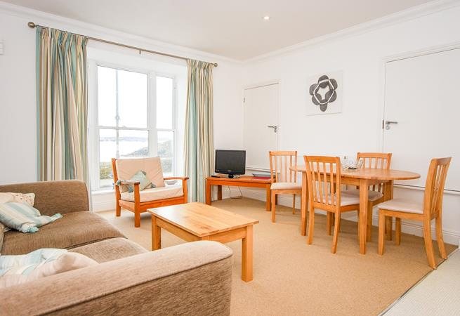 Living area with views across the road to Porthminster.
