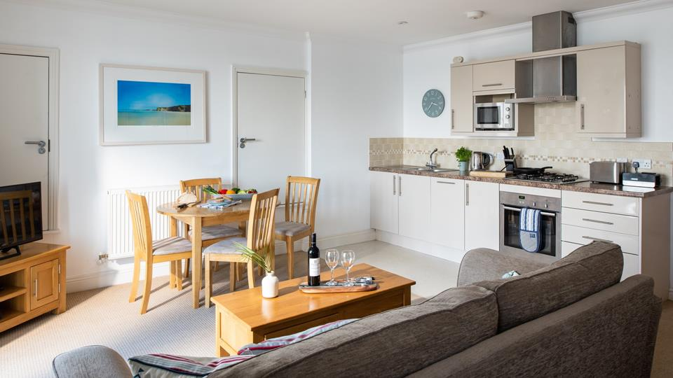 The living area is completely open plan allowing for a sociable atmosphere.