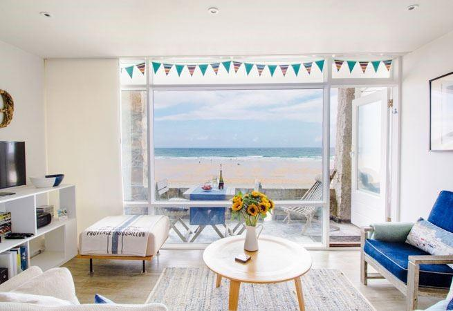 Light and airy open plan living with extensive views over Porthmeor.