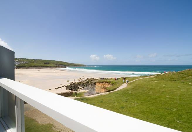 Unobstructed sea views over Porthmeor.