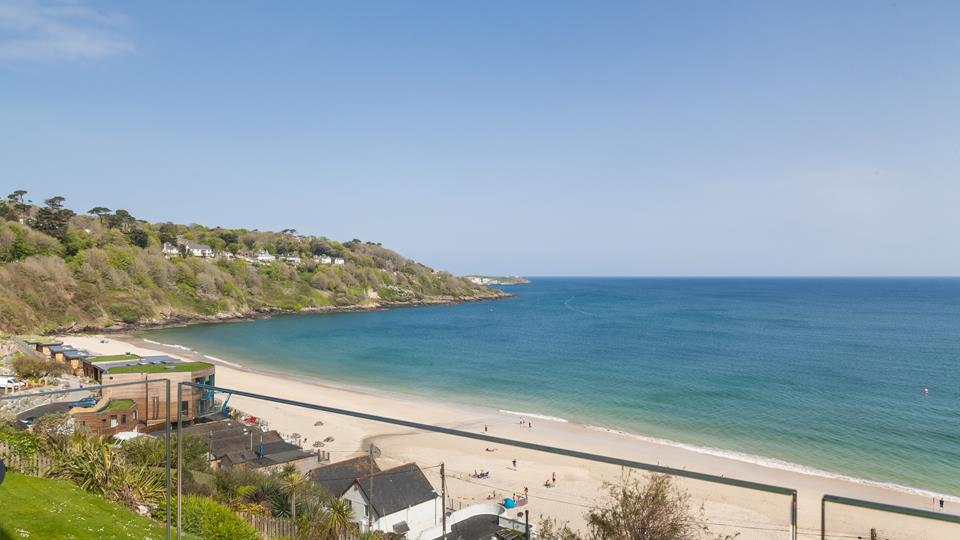 205 Carbis Beach Apartments commands breathtaking views across the stunning Carbis Bay Beach.