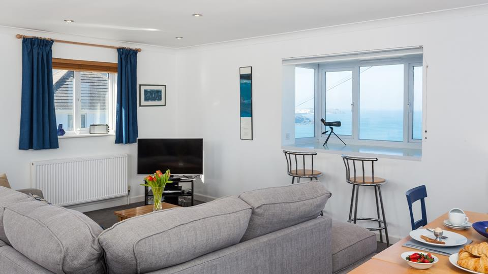 Beautifully finished, the open plan living area features a large bay window to take full advantage of those breathtaking views.