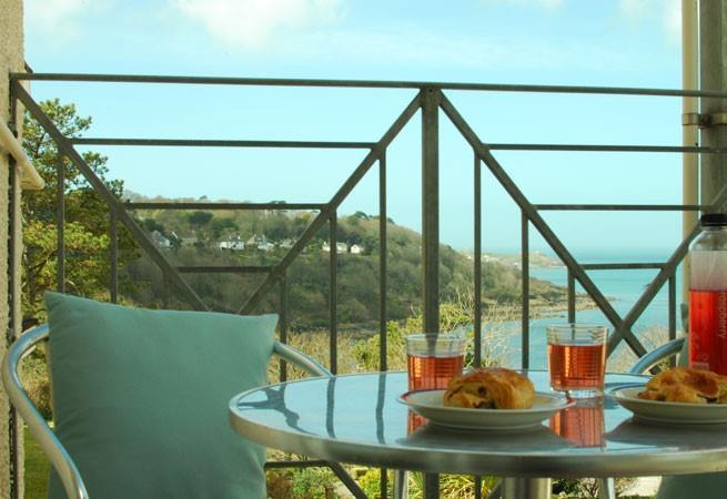 Breathtaking views from the balcony.