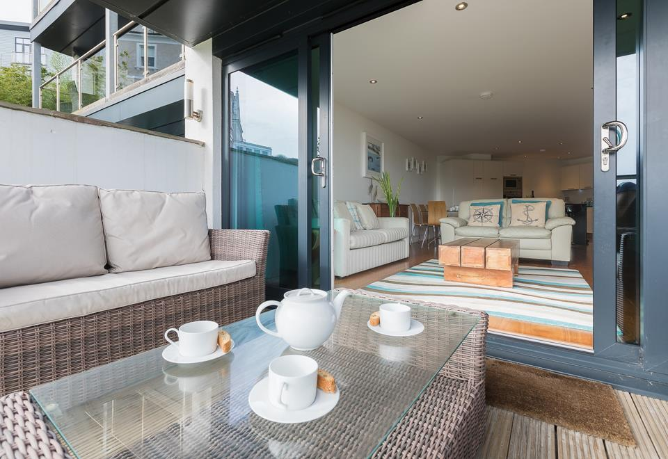 After a busy day relax with a cuppa on the balcony.