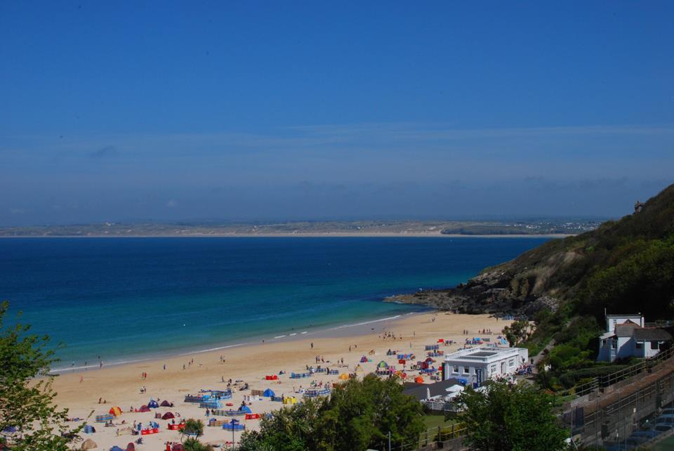 A shot of Porthminster beach, which is a 5 min walk down to from the apartment.