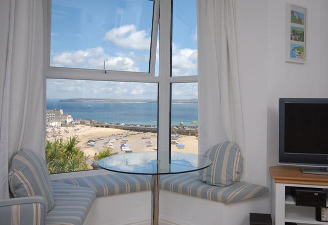 Enjoy the stunning views from the large bay window