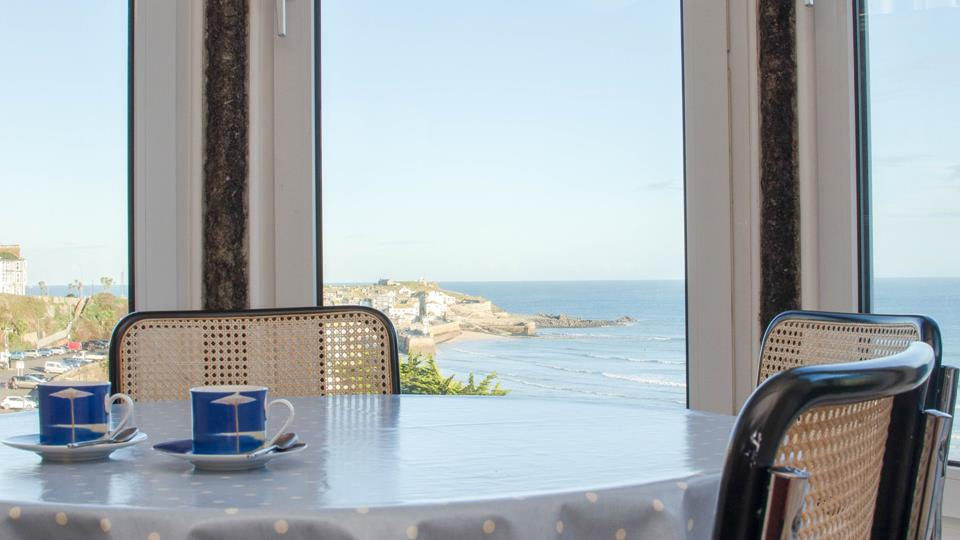 Exceptional sea views from the open plan living area.