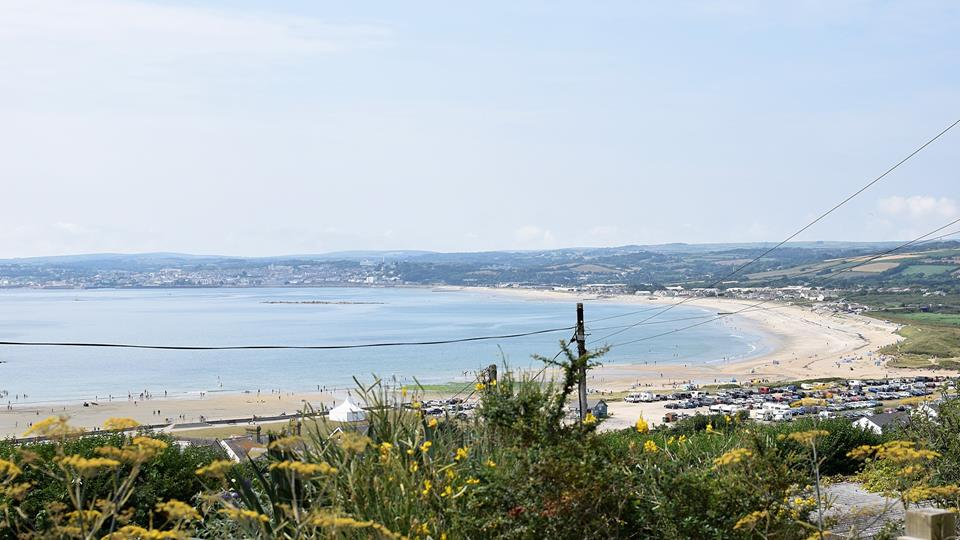Extensive sea views across the bay towards Penzance and Newlyn.