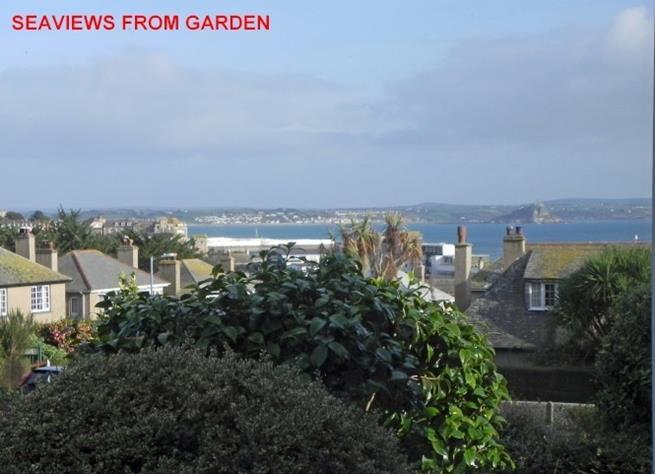 Beautiful sea views from the garden