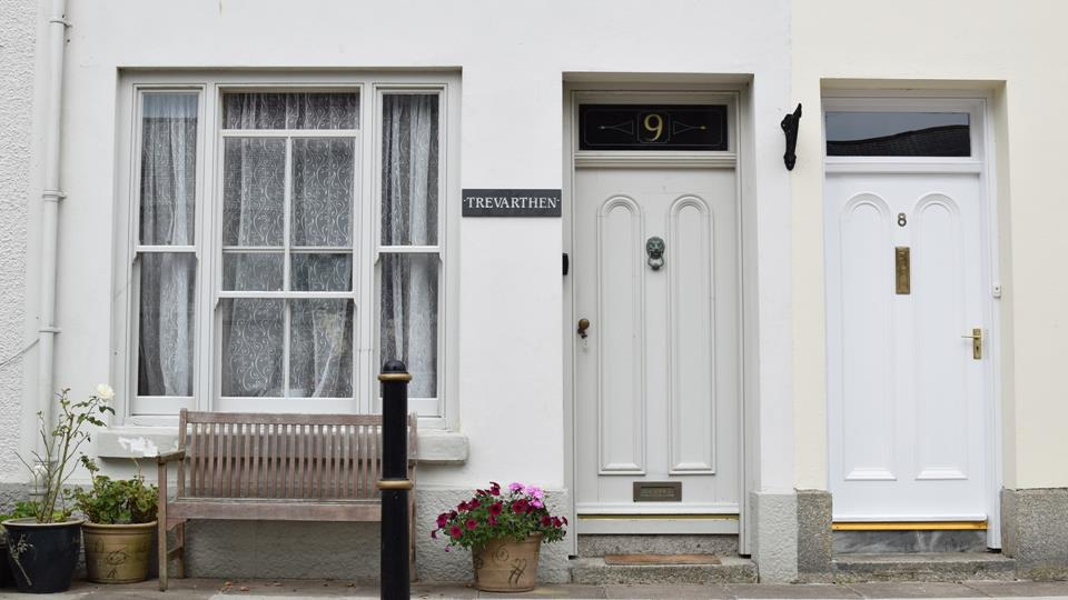 The house is located in a square in a quiet part of Penzance.