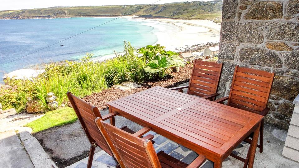 Outside seating area means you can enjoy a family lunch alfresco whilst overlooking Sennen Cove.