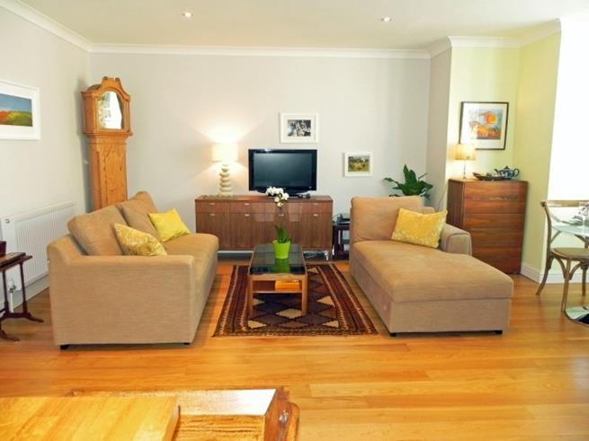 Sofa seating and TV/DVD player