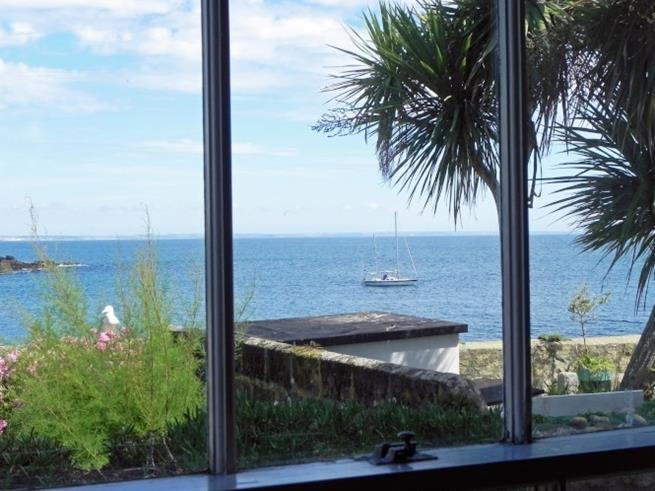 Beautiful views out to sea from the dining room