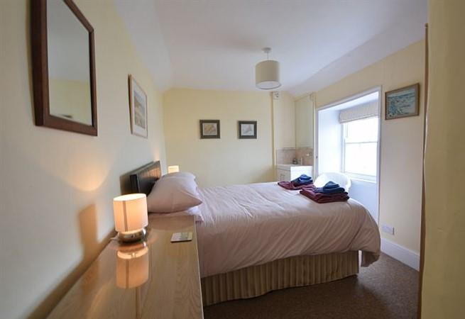 The 3rd bedroom, with a double bed,  is accessed via bedroom 2