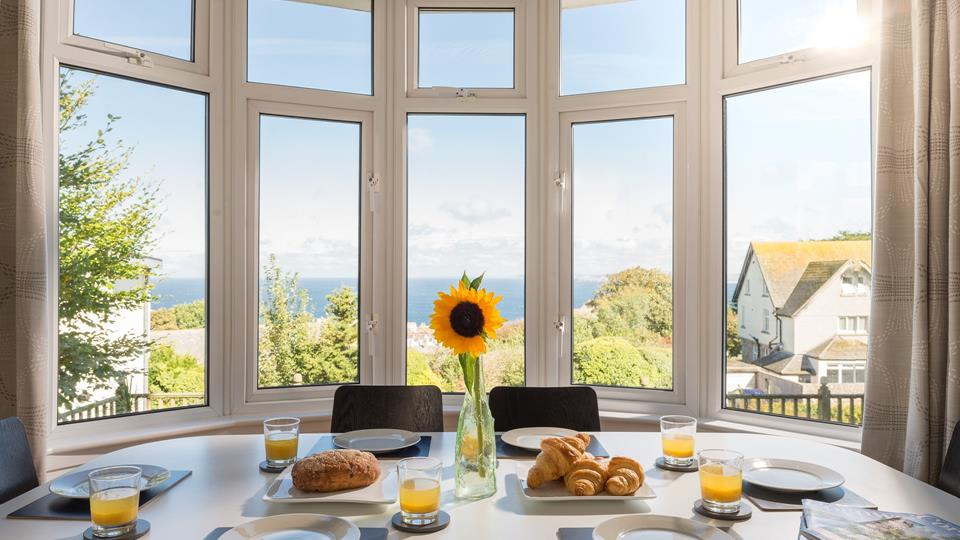Enjoy your breakfast with a stunning view.
