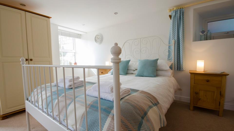 Drift off to the distant sound of the sea in the comfy double bed.