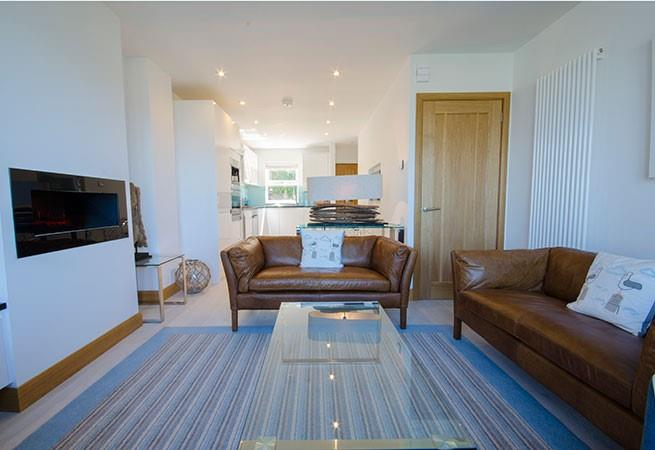 Beautifully presented open plan living area.
