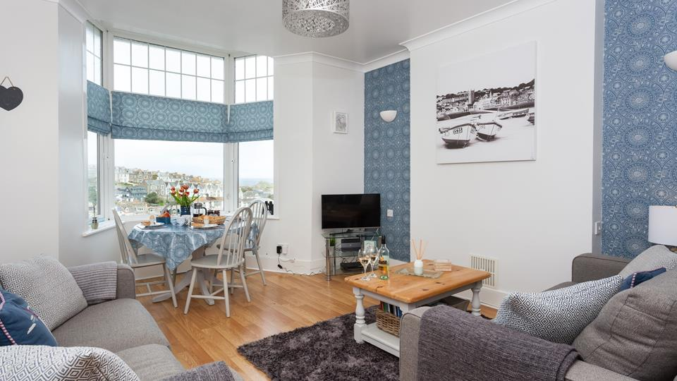 Beautifully presented, the living space is a bright and airy haven of relaxation.