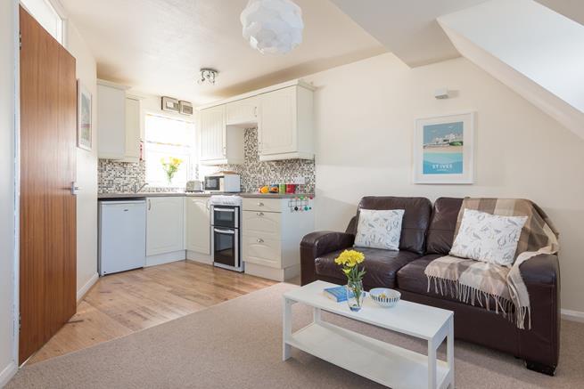 Open plan sitting/dining/kitchen area