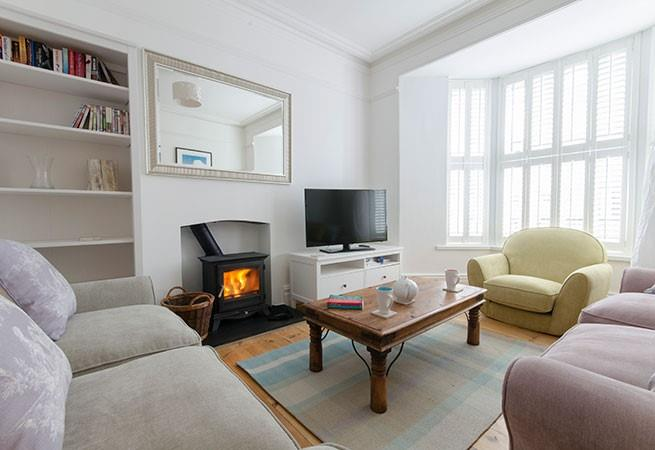 The comfortably cosy sitting room at Bella's Retreat.
